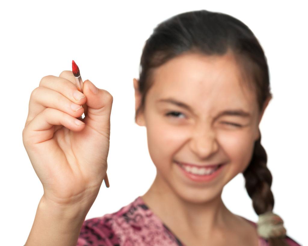 jeune fille en action