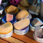 éponge avec pigment
